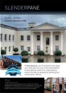 Slenderpane Brochure for slim double glazed units