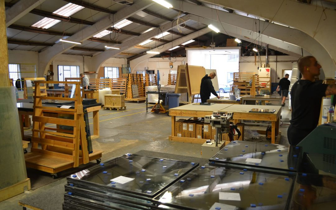 Slenderpane's slim double glazed unit workshop