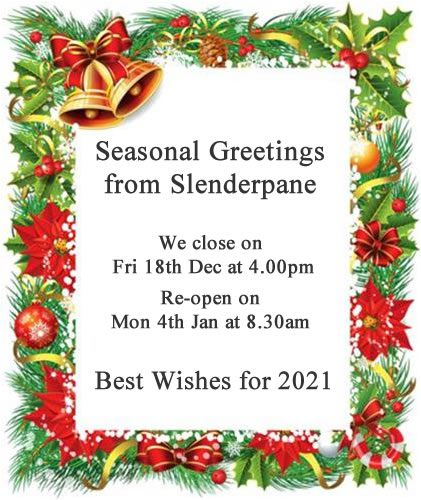 Seasonal greetings from Slenderpane