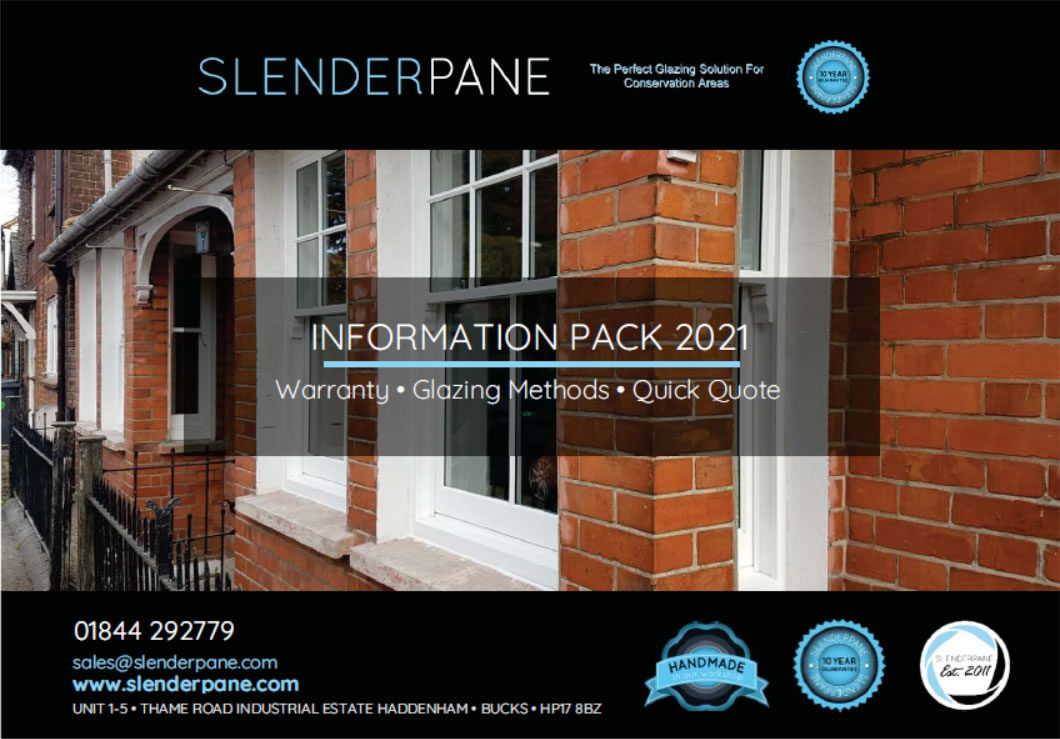 Slenderpane Information Pack cover